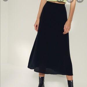 Black Wilfred midi skirt